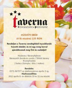 Rendelj húsvéti ebédet a Taverna étteremtől