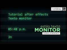 Texto Monitor [Type-on] - YouTube