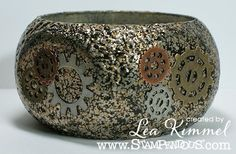 @Leadonna Quick Kimmel made this gorgeous #Steampunk Bangle using products from #Stampendous and @DiyBangles com