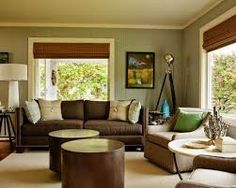 living room with brown couch - Google Search