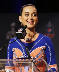 Katy Perry in Pepsi Super Bowl Halftime Show Press Conference