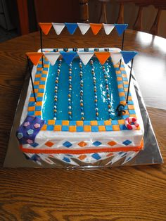 Olympic Pool Birthday Cake / Swim Team / Swimmer