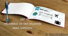 Con este talonario de San Valentín para imprimir conseguirás hacer un regalo DIY y personalizado para tu pareja que seguro que le arrancará una sonrisa.