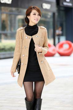 woman coat, winter jacket, lady long coats, fashion wear, warm wear/B1 $38.00