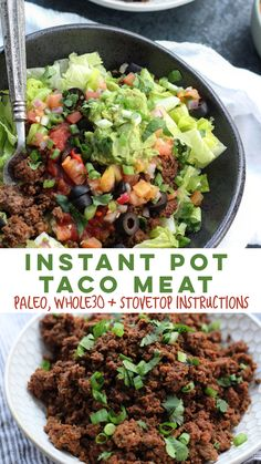 Quick Whole30 and Paleo instant pot taco meat that you can make in less than 20 minutes. Perfect for a low carb lunch, easy whole30 dinner or paleo meal prep! #whole30 #paleo #whole30beef #whole30instantpot