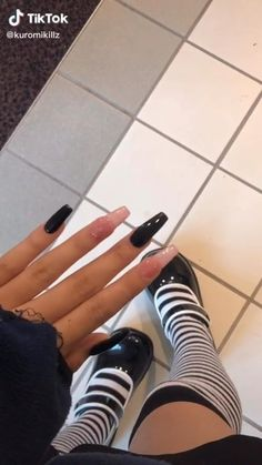 Edgy Nails, Grunge Nails, Aycrlic Nails, Swag Nails, Coffin Nails, Edgy Nail Art, Stiletto Nails, Trendy Nails, Simple Acrylic Nails