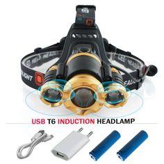 sale 2017 new ir sensor induction led head lamp cree xml t6 headlamp usb headlight waterproof head #hunting #backpacks