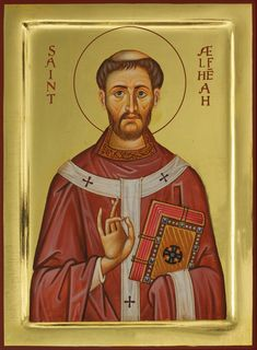 St. Alphege Aelfheah of Canterbury - Aidan Hart Sacred Icons