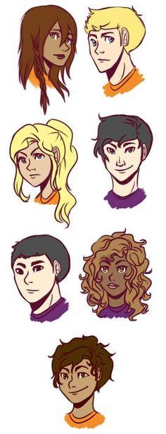 Piper - Jason - Annabeth - Percy - Frank - Hazel - Leo