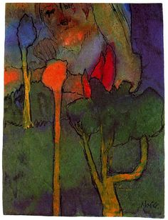 ramacharaka: The Great Gardener by Emil Nolde Emil Nolde, Abstract Landscape, Landscape Paintings, Abstract Art, Kandinsky, Degenerate Art, Amedeo Modigliani, Klimt, Oeuvre D'art