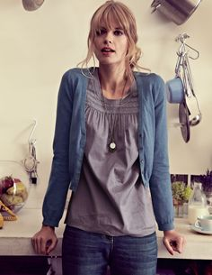 """Love the Charlotte Top underneath, also looks like I'm asking, """"Where's my dinner?""""  http://www.bodenimages.com/productimages/ZoomLarge/12WAUT_WK736_MBL_M01.jpg"""