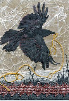 Collagraphs Collagraph bird plate