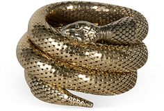 Gold Snake Bracelet on OneKingsLane.com