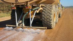 Dust Control and Soil Stabilization on Gravel Road