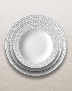 Perlée Collection - Dinnerware - White at L'Objet