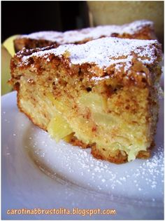 Cookie Desserts, Vegan Desserts, Dessert Recipes, Apple Recipes, Sweet Recipes, Torte Cake, Sicilian Recipes, Bakery Cakes, Almond Cakes