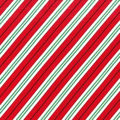 Christmas Fabric, Red, Green and White Diagonal Stripes, Cotton Yardage, Clothing,Craft, Fat Quarter, Half Yard, Quilting Fabric By The Yard