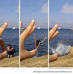All perfectly timed shots