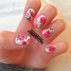 Hey, I found this really awesome Etsy listing at https://www.etsy.com/listing/234095538/floral-stiletto-nails-nail-designs-nail