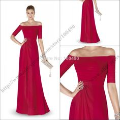 2015 Newest Design ALEJANDRA Elegant Sexy Off Shoulder Formal Evening Gowns Short Sleeves Evening Dresses US $131.99