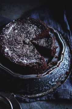 Evelyn Sharpe's French Chocolate Cake - with only 1/2 a tablespoon of flour (yep you read that right!) It's so dense with chocolate that it's fudgy and indulgent, but it doesn't feel heavy or overly-sweet.