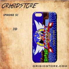 Sonic The Hedgehog Game Play Black White Snap On 3D For Iphone 5C Case