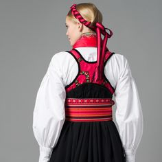 Back - Telemark Bunad Folk Costume, Costumes, Family Crest, My Heritage, Color Patterns, Norway, Ethnic, Headgear, Olaf