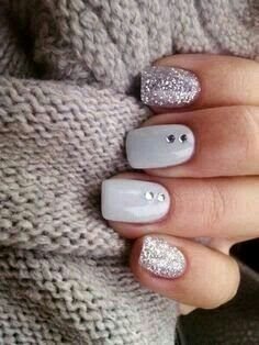 Minus the jewels nail designs pinterest jewel pedi and mani top 10 silver nail designs that you will love prinsesfo Choice Image