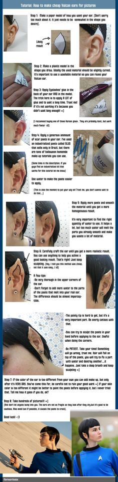 Vulcan (or any other) ears Tutorial Because someday I want to be both Arwen and t'pol or spock: