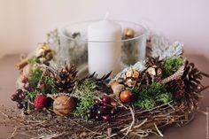 Купить Ягодный эко подсвечник - комбинированный, Новый Год, новый год 2016, новый год 2017
