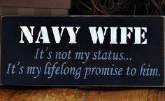Navy wife plaque