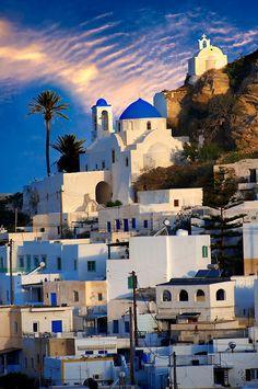 The Hill city of Chora, Ios, Greece, Cyclades Island #contiki2015 #greekislandhopping