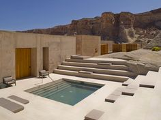 Very simple and the whole space design looks great with the surrounding desert