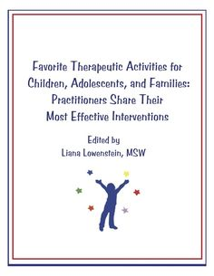 FREE Play therapy activity book Here is a link to a great 120 page play therapy activity book compiled by Liana Lowenstein. My mentor also contributed :)