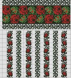 Folk Embroidery My childhood's pattern Folk Embroidery, Hand Embroidery Stitches, Embroidery Techniques, Cross Stitch Embroidery, Embroidery Patterns, Cross Stitch Borders, Cross Stitch Rose, Cross Stitch Designs, Cross Stitching
