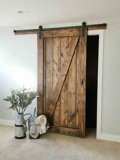Barn Door - Sliding 1 Panel Z Style - Walston Door Company - September 21 2019 at Barn House, Doors Interior, Barn Door Designs, Farmhouse Decor, Remodel, Door Design, Barn Door Hardware, Sliding Doors, Doors