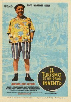 El turismo es un gran invento (1968). Dir: Pedro Lazaga. Para promover el desarrollo de un pequeño pueblo aragonés, su alcalde decide convertirlo en un centro turístico donde las frutas y un castillo son el mayor exponente. En #BibUpo http://athenea.upo.es/record=b1440558