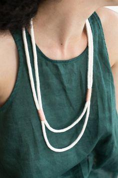 Summer Rope Necklace DIY