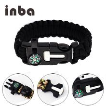 [Outdoor Sports] Inba 5 in 1 Outdoor Paracord Survival Bracelet with Embedded Compass handmade