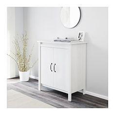 IKEA - BRUSALI, Armario con puertas, blanco, , Como la altura de las baldas es…