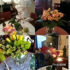 #Floral Arrangements, made by@Olga Espejo for@Angela Maria Home Services