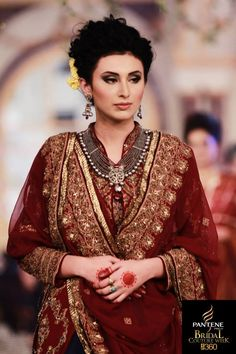 Hair and Makeup at Bridal Couture Week, Pakistan by Maram and Aabroo