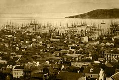 "Early sections of San Francisco were built out of ships abandoned by prospectors.  The Gold Rush conjures up images of thousands of ""'49ers"" heading west in wagons to strike it rich in California, but many of the first prospectors actually arrived by ship—and few of them had a return ticket."