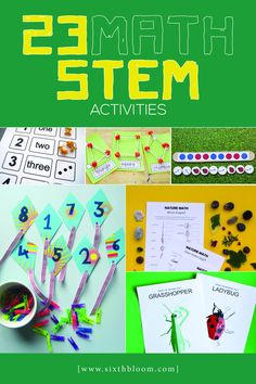 A collection of over __ hands on and fun Math STEM Activities. Something fun for all ages and all skills. Kindergarten Stem, Preschool Math, Fun Math, Math Math, Multiplication, Math Games, Math Stem, Math Projects, Cool Science Experiments