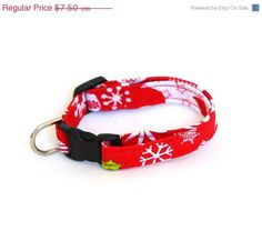 ON SALE Christmas Dog Collar  Holly Jolly by Pugs2Persians on Etsy, $6.75