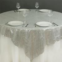 """90"""" Premium Big Payette Sequin Overlay For Wedding Banquet Catering Party Table Decorations - Blush 