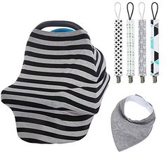 Baby Car Seat Cover Canopy Nursing Cover MultiUse Stretchy Infinity Scarf Breastfeeding Shopping Cart Cover High Chair Cover 3 * You can get additional details at the image link.-It is an affiliate link to Amazon.