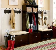 pottery barn back wall organized - Google Search