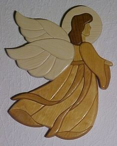 Custom Order Your Own Wood Intarsia Angel/religious Piece