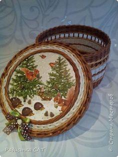 В этом блоге собраны шкатулки, которые сплела перед Новым Годом. фото 19